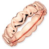 Stackable Expressions Sterling Silver Pink-plated Hearts Ring