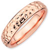 Stackable Expressions Sterling Silver Pink-plated Ring