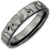Stackable Expressions Sterling Silver Black-plated Ring
