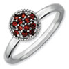 Stackable Expressions Sterling Silver Garnet Rhodium Ring