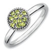 Stackable Expressions Sterling Silver Peridot Rhodium Ring