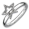 Stackable Expressions Sterling Silver Star Diamond Ring