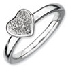 Stackable Expressions Sterling Silver Heart Diamond Ring