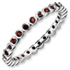 Stackable Expressions Sterling Silver Garnet Ring