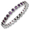 Stackable Expressions Sterling Silver Amethyst Ring