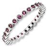 Stackable Expressions Sterling Silver Rhodolite Garnet Ring