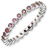 Stackable Expressions Sterling Silver Pink Tourmaline Ring