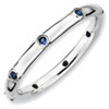 Stackable Expressions Sterling Silver Created Sapphire Ring