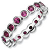 Stackable Expressions Sterling Silver Rhodolite Garnet Ring