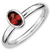 Stackable Expressions Sterling Silver Oval Garnet Ring