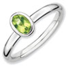 Stackable Expressions Sterling Silver Oval Peridot Ring
