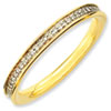 Stackable Expressions Sterling Silver and Diamond Gold-plated Ring
