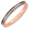 Stackable Expressions Sterling Silver and Diamond Pink-plated Ring