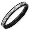 Stackable Expressions Sterling Silver and Diamond Black-plated Ring