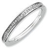 Stackable Expressions Sterling Silver and Diamond Polished Ring