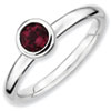 Stackable Expressions Sterling Silver Low 5mm Round Rhodolite Garnet Ring