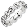 Stackable Expressions Sterling Silver Polished Heart Ring