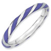 Stackable Expressions Sterling Silver Twisted  Purple Enameled 2.4 x 2.0mm Ring