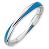 Stackable Expressions Sterling Silver Twisted Blue Enameled 2.5 x 2.25mm Ring