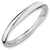 Stackable Expressions Sterling Silver Twisted  White Enameled 2.5 x 2.25mm Ring