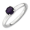 Stackable Expressions Polished Sterling Silver Amethyst Ring