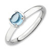 Stackable Expressions Polished Sterling Silver Blue Topaz Ring