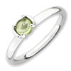 Stackable Expressions Polished Sterling Silver Peridot Ring