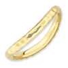 Stackable Expressions Polished Sterling Silver Gold-plated Curved Band