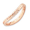 Stackable Expressions Polished Sterling Silver Pink-plated Curved Band