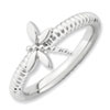 Stackable Expressions Sterling Silver Dragonfly Ring