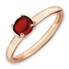 Stackable Expressions Sterling Silver Garnet Pink-plated Ring