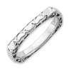 Stackable Expressions Polished Sterling Silver Rhodium-plated Square Ring