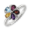 Stackable Expressions Sterling Silver Gemstone & Diamond Ring
