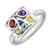 Stackable Expressions Sterling Silver Gemstone Ring