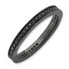 Stackable Expressions Polished Sterling Silver Black Diamond Ring