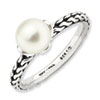 Stackable Expressions Sterling Silver 7.0-7.5mm White Pearl Ring