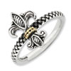 Stackable Expressions Sterling Silver & 14k Antiqued Ring