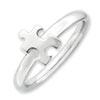 Stackable Expressions Sterling Silver Rhodium-plated Awareness Puzzle Piece Ring