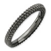 Stackable Expressions Sterling Silver Black-plated Domed Ring