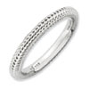 Stackable Expressions Sterling Silver Rhodium-plated Domed Ring