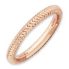 Stackable Expressions Sterling Silver Pink-plated Domed Ring