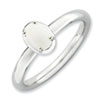 Stackable Expressions Sterling Silver White Agate Polished Ring