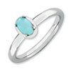 Stackable Expressions Sterling Silver Turquoise Polished Ring