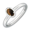 Stackable Expressions Sterling Silver Tiger's Eye Polished Ring