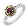 Stackable Expressions Sterling Silver & 14k Garnet Ring