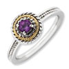Stackable Expressions Sterling Silver & 14k Amethyst Ring