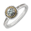 Stackable Expressions Sterling Silver and 14k Aquamarine Ring