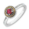 Stackable Expressions Sterling Silver & 14k Created Ruby Ring