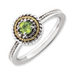 Stackable Expressions Sterling Silver & 14k Peridot Ring
