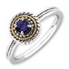 Stackable Expressions Sterling Silver & 14k Created Sapphire Ring